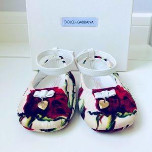 Dolce & Gabbana Rose Print Pre-Walkers